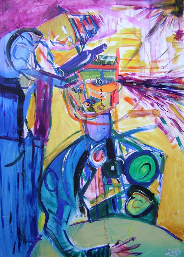 Vino Violento - Oil on hardboard 50 by 69 cm. 2013