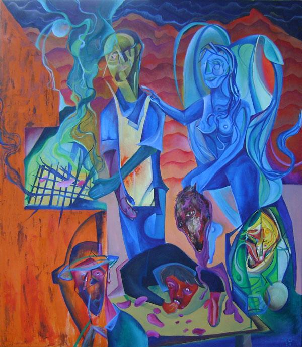 Grupo Desierto - Oil on canvas 96 by 106 cm. 2012