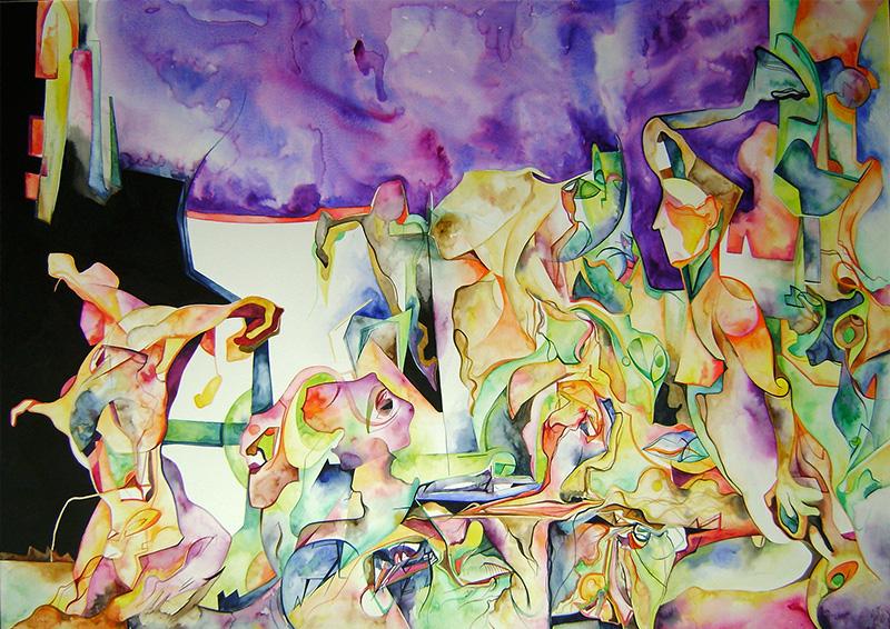 Apariencias - Watercolor on paper 120 by 80 cm. 2014