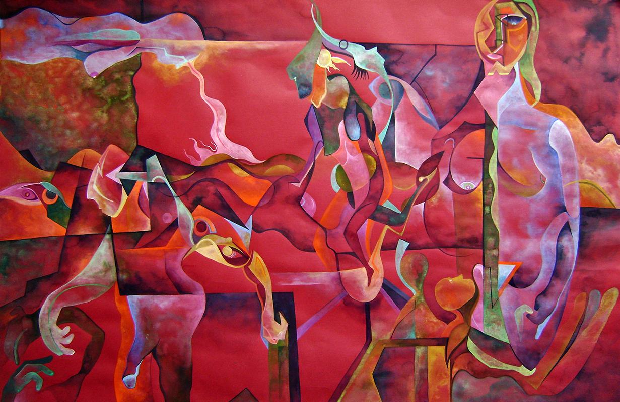 Esperanza - Watercolor on paper 100 by 65 cm. 2015